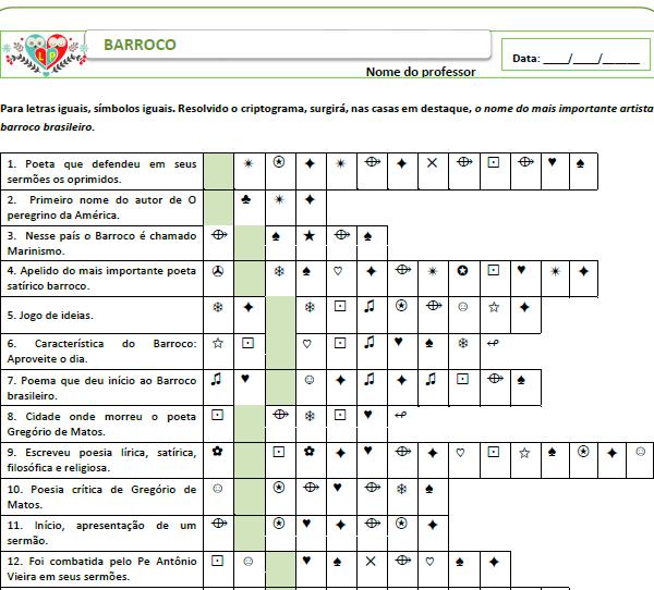 Criptograma do Barroco