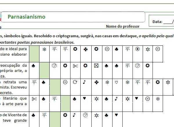 Criptograma do Parnasianismo