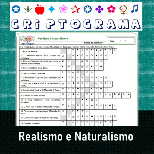 Criptograma do Realismo e Naturalismo