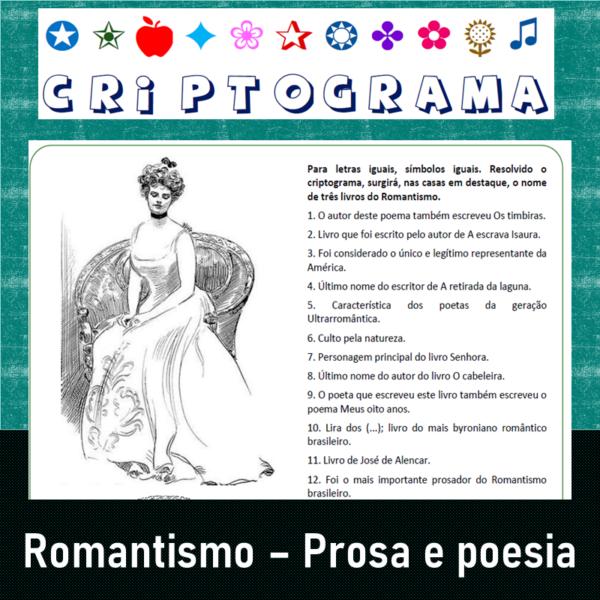 Criptograma do Romantismo – Prosa e poesia 1