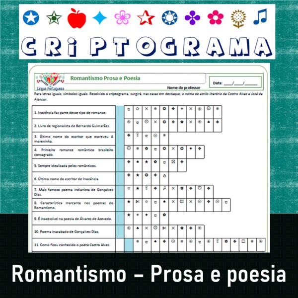 Criptograma do Romantismo Prosa e Poesia 2