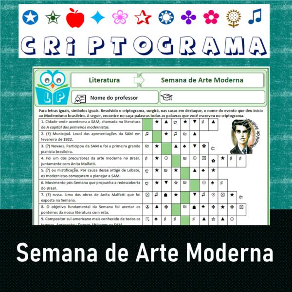 Criptograma da Semana de Arte Moderna