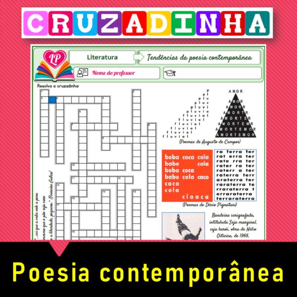 Literatura contemporânea (poesia) – Cruzadinha
