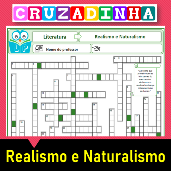 Cruzadinha – Realismo e Naturalismo