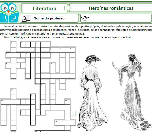 Cruzadinha Romantismo – Prosa – Heroínas românticas