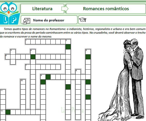 Cruzadinha – Romantismo – Prosa (Trechos de romances)