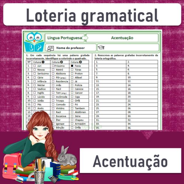 Loteria gramatical de acentuação