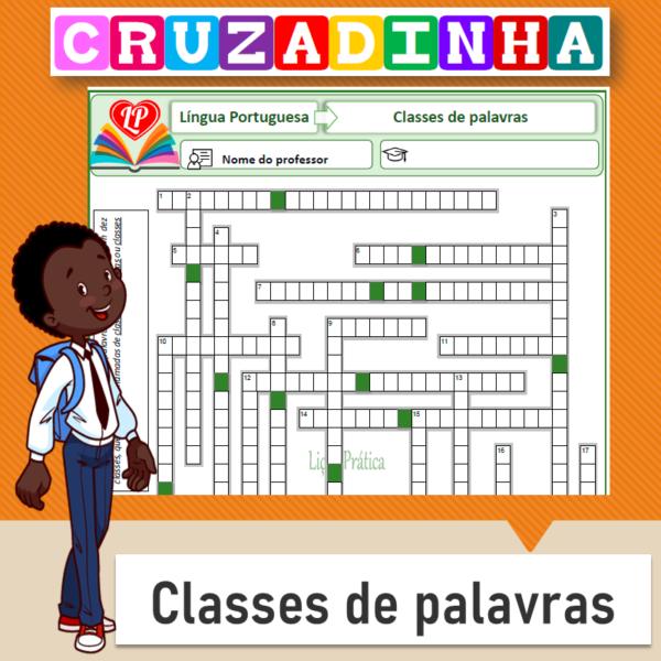 Cruzadinha – Classes de palavras