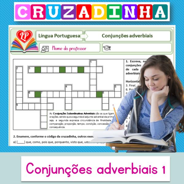 Conjunções adverbiais 1 – Cruzadinha