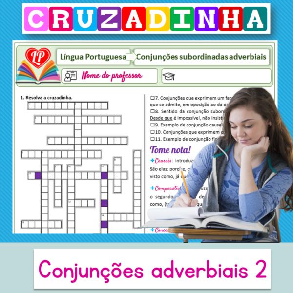 Conjunções adverbiais 2 – Cruzadinha