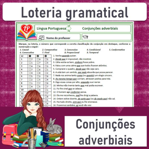 Loteria gramatical – Conjunções adverbiais