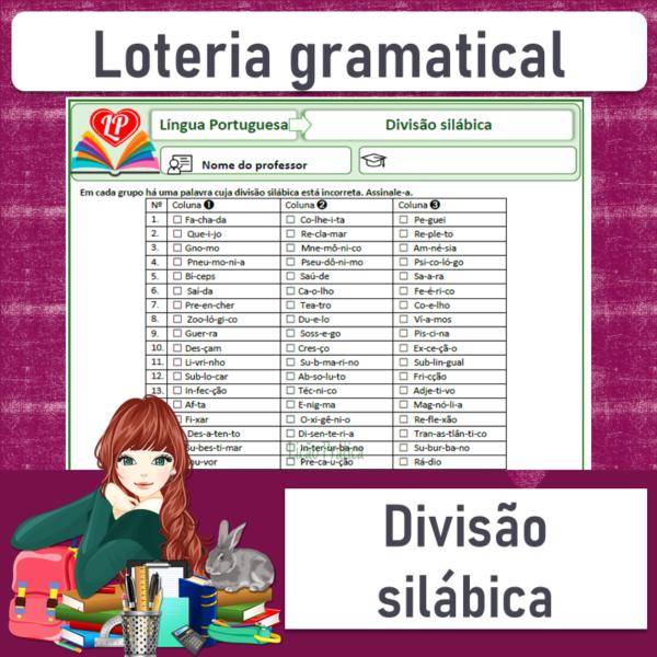 Loteria gramatical – Divisão silábica