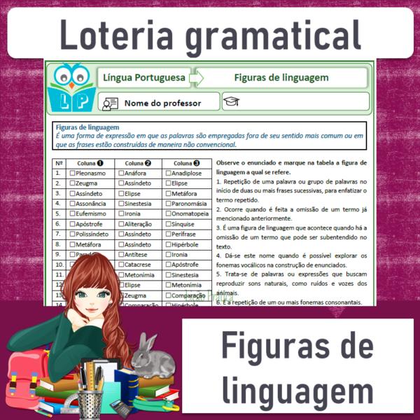 Figuras de linguagem – Loteria gramatical 1