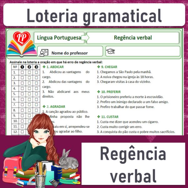 Loteria gramatical – Regência verbal