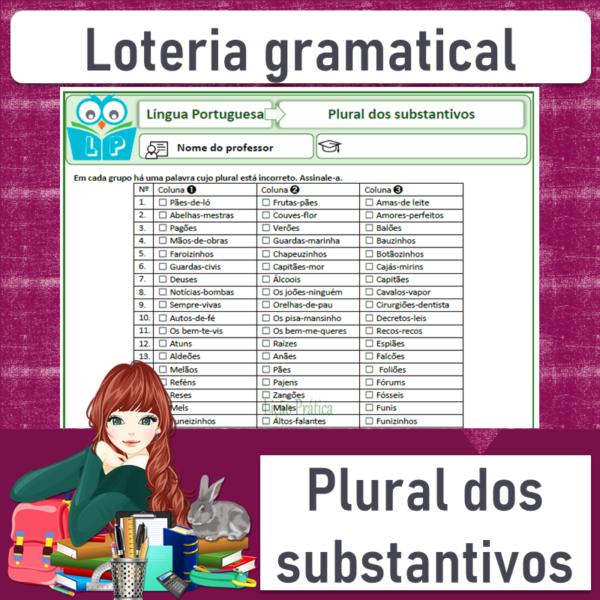Loteria gramatical – Plural dos substantivos