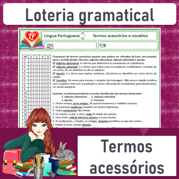 Loteria gramatical – Termos acessórios
