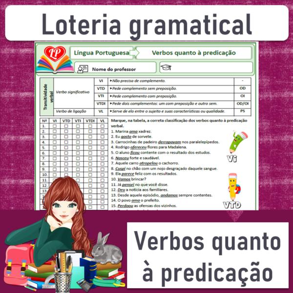 Loteria gramatical – Verbos quanto à predicação 1