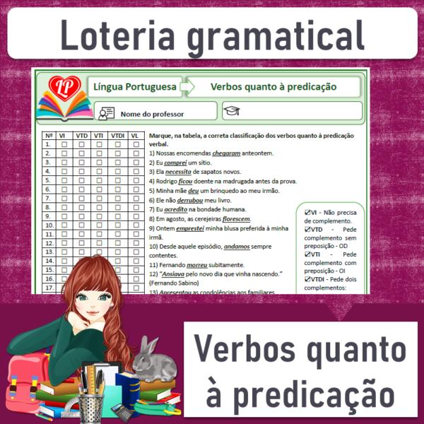 Loteria gramatical – Verbos quanto à predicação 2