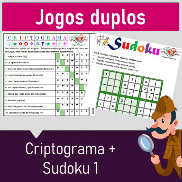 6 Jogos duplos – Criptograma + Sudoku