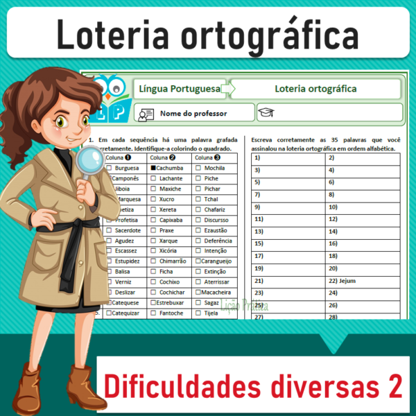 Loteria ortográfica – Dificuldades diversas 2