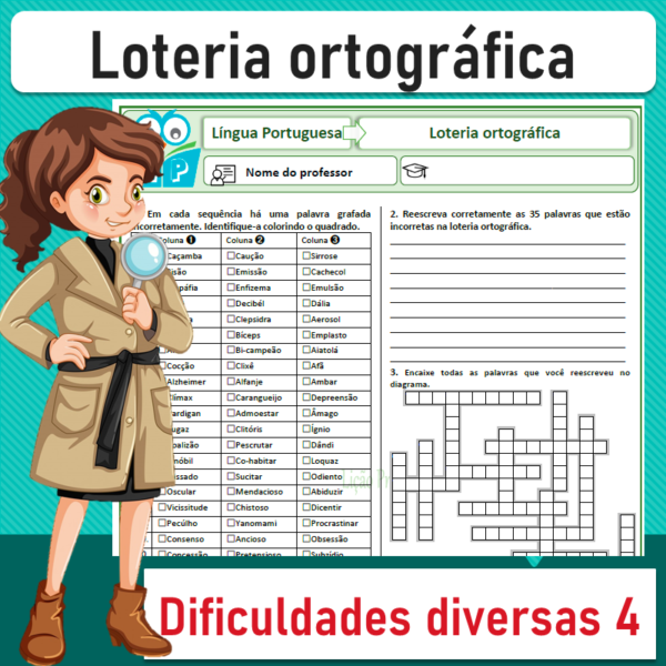 Loteria ortográfica – Dificuldades diversas 4