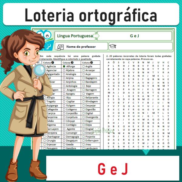 Loteria ortográfica – G e J