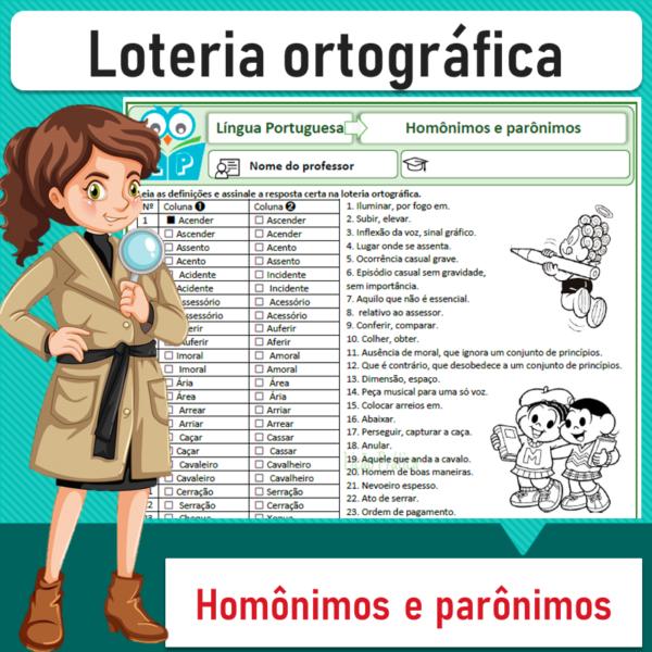 Loteria ortográfica – Homônimos e parônimos