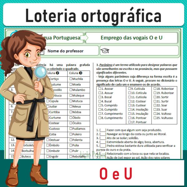 Loteria ortográfica – O e U