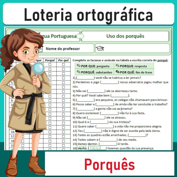 Loteria ortográfica – Uso dos porquês