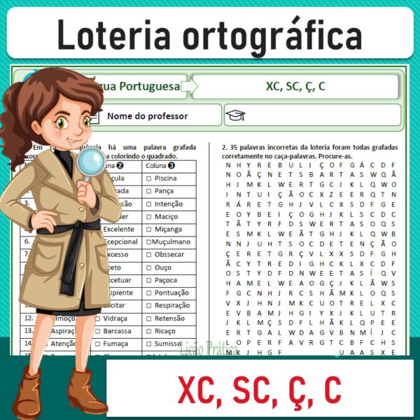 Loteria ortográfica – XC, SC, Ç, C