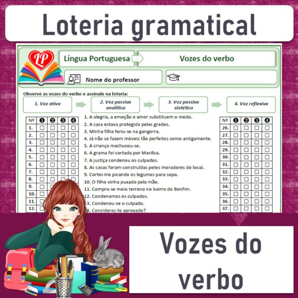 Loteria gramatical – Vozes do verbo