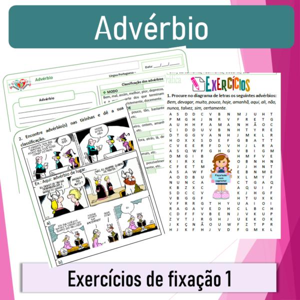 Advérbio – Exercícios de fixação 1