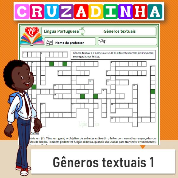 Cruzadinha – gêneros textuais 1