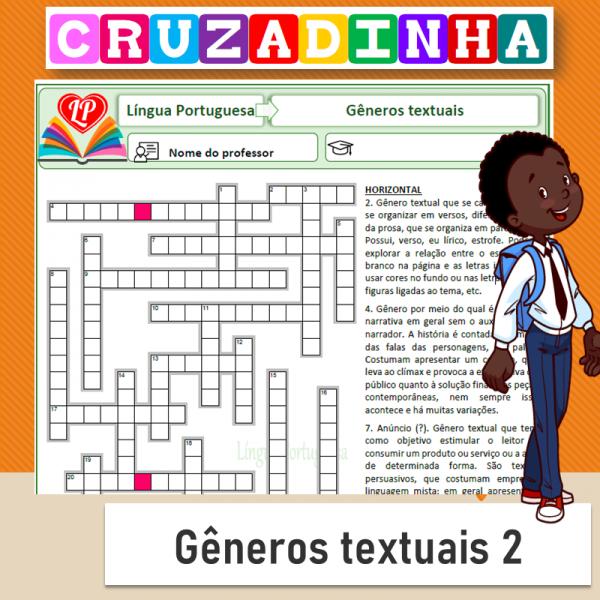 Cruzadinha – Gêneros textuais 2