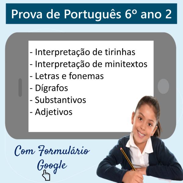 Prova de Português – 6º ano 2