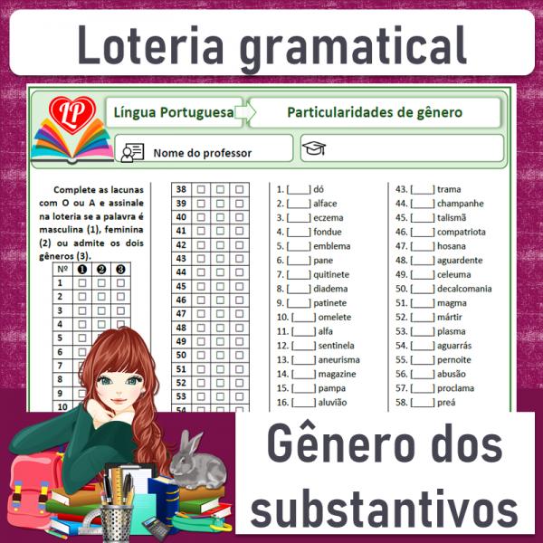 Loteria gramatical – Particularidades de gênero