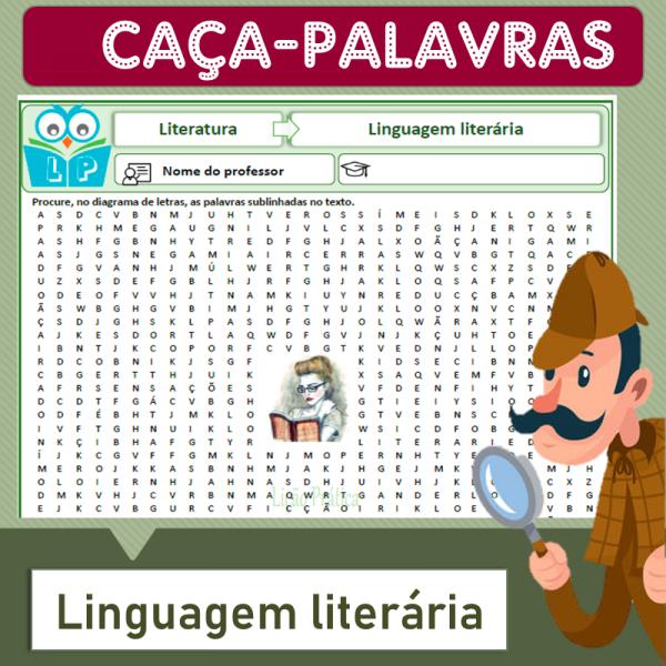 Linguagem literária – Caça-palavras