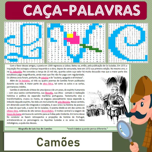 Luís Vaz de Camões – Caça-palavras