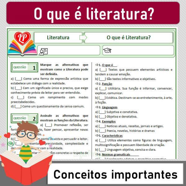 O que é Literatura – Conceitos importantes