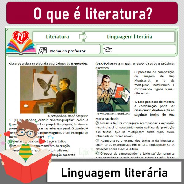 O que é Literatura? Linguagem literária 2