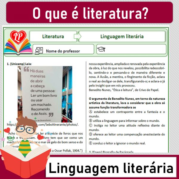 O que é Literatura – Linguagem literária