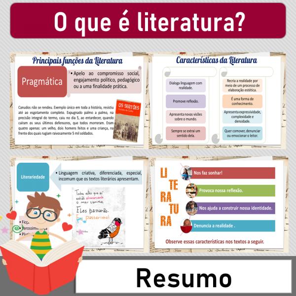 O que é literatura – Resumo