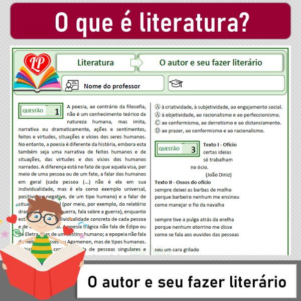O que é Literatura – O autor e seu fazer literário
