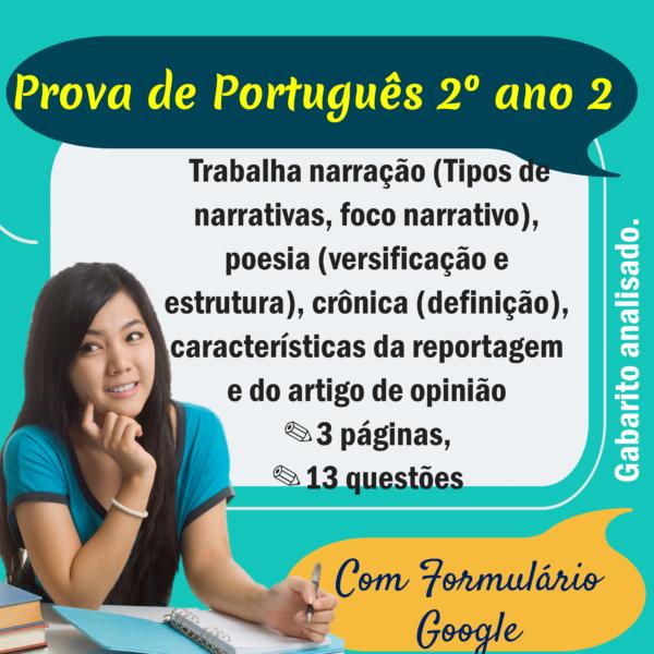 Prova de Português – 2º ano 2