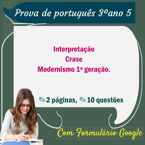 Prova de Português – 3º ano 5