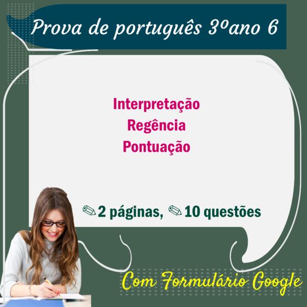 Prova de Português – 3º ano 6