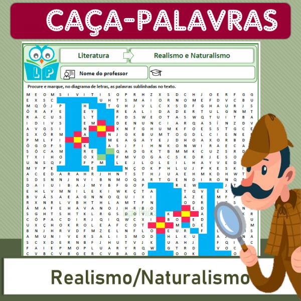 Realismo e Naturalismo – Caça-palavras
