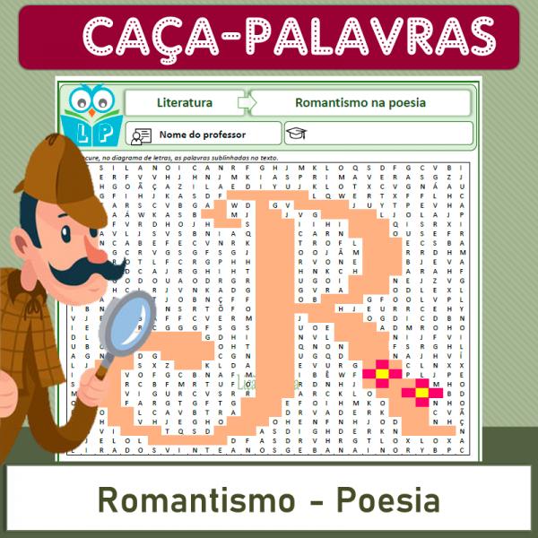 Romantismo Poesia – Caça-palavras