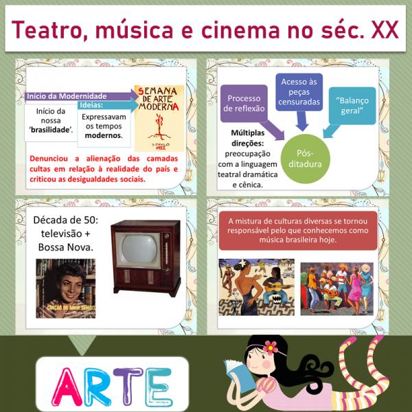 Arte – Teatro, música e cinema no século XX