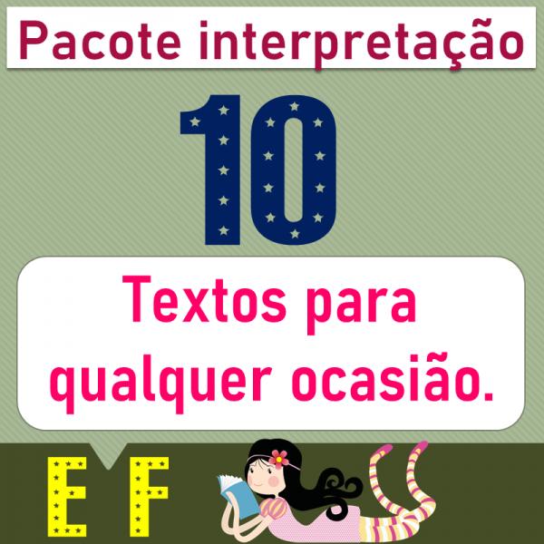 Pacote – Interpretação de gêneros textuais